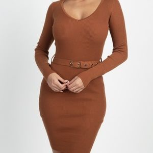 🌸NWT!Foiled Ruched Tube Midi Dress